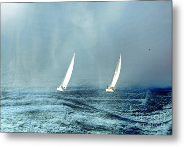 Sailing Into The Unknown Metal Print