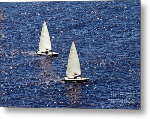 Sailing Metal Print by Lars Ruecker