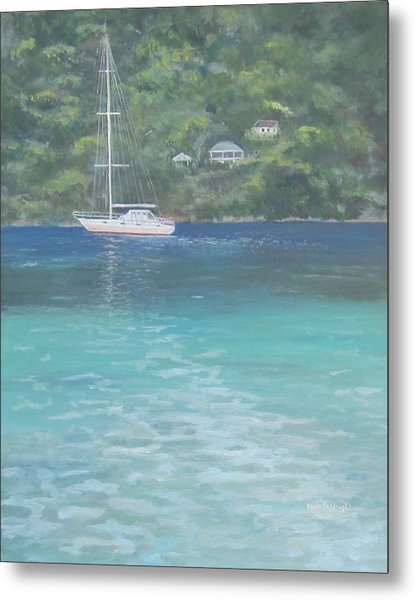 Sailing On The Caribbean Metal Print