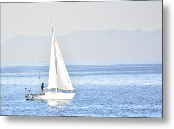 Sailing Peace Metal Print