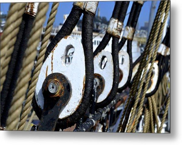 Sailing Ship Balclutha Metal Print