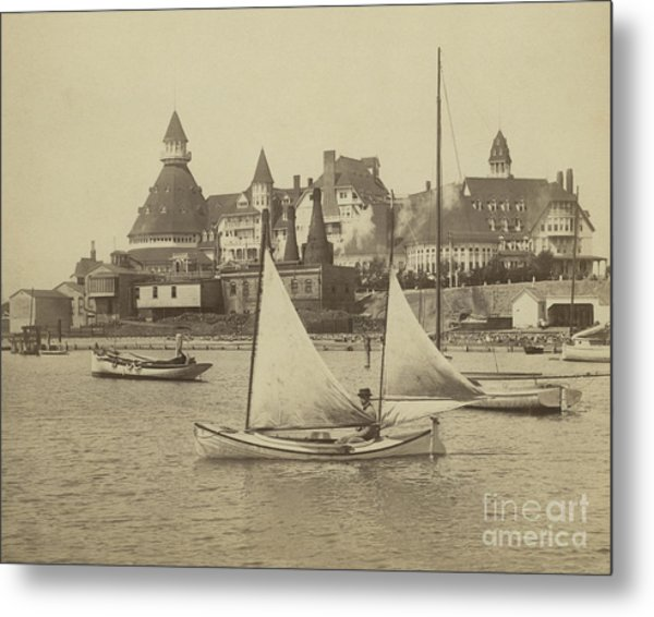 Sailing The Del Metal Print