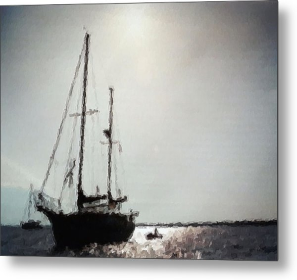 Out Sailing The Seas Metal Print