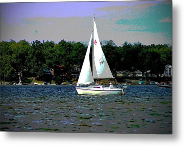Sailing Metal Print by Thomas Fouch
