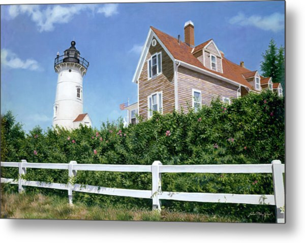 Sailors Gift - Nobska Lighthouse Metal Print by Julia O'Malley-Keyes
