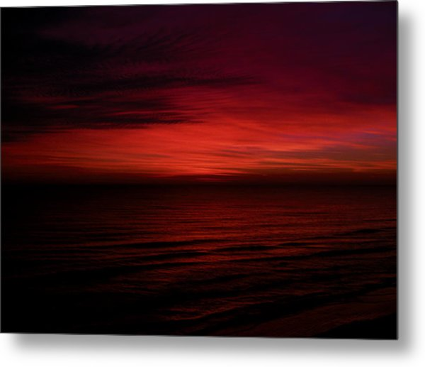Sailors Take Warning Metal Print