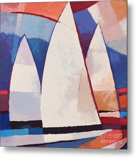 Sails Ahead Graphic Metal Print