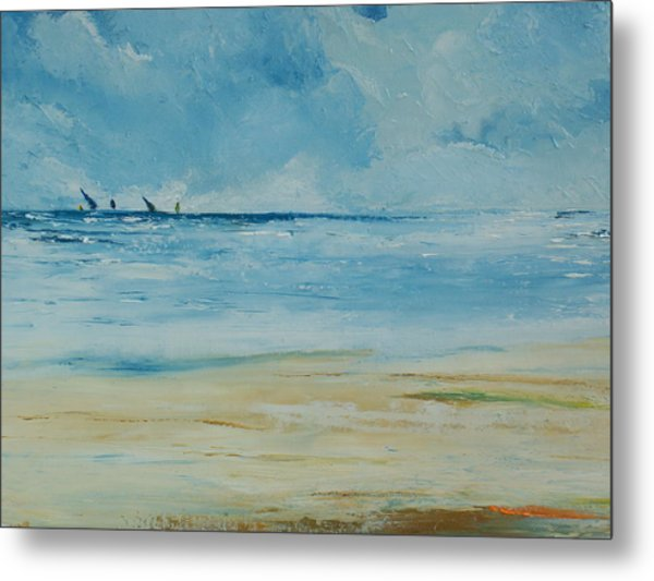 Sails Beyond The Reef Metal Print by Conor Murphy