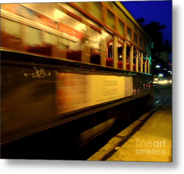 New Orleans Saint Charles Avenue Street Car In  Louisiana #7 Metal Print