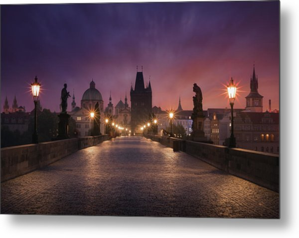 Saint Charles Bridge, Prague Metal Print by Inigo Cia