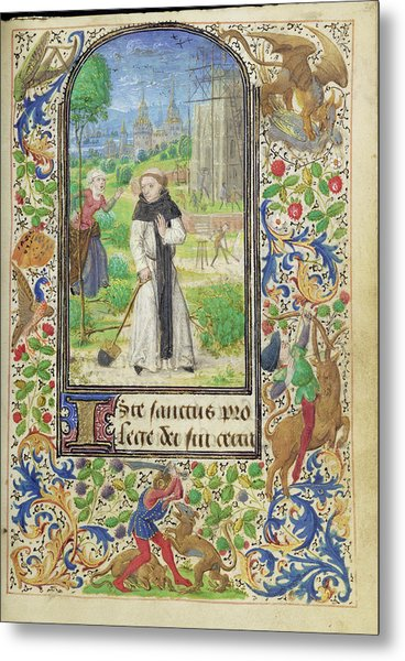 Saint Fiacre And The Shrew Houpdée Becnaude Or Baquenaude Metal Print by Litz Collection