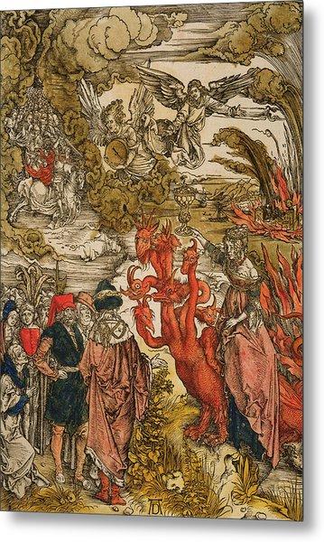 Saint John In The Desert Metal Print