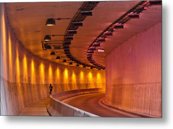 Saint-marc Tunnel Scene 1 Metal Print by Eric Soucy