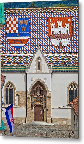 Saint Mark Church Facade Vertical View Metal Print