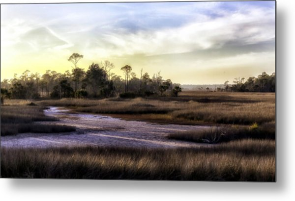 Saint Marks Wetland Sunset Metal Print