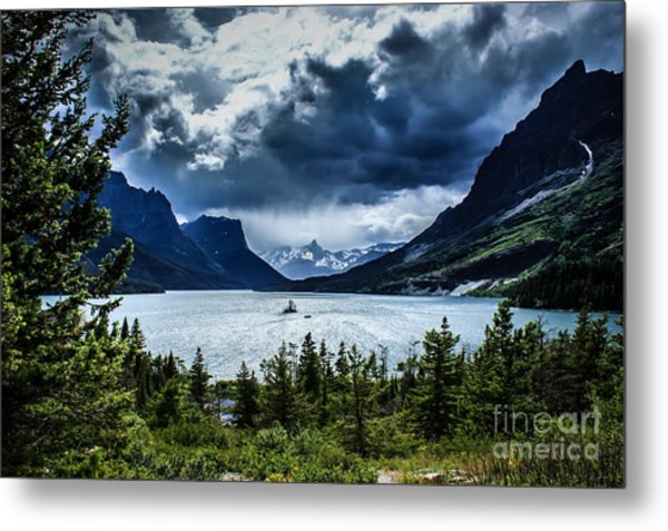 Saint Mary Lake Metal Print