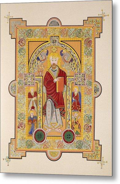 Saint Matthew, From A Facsimile Copy Metal Print