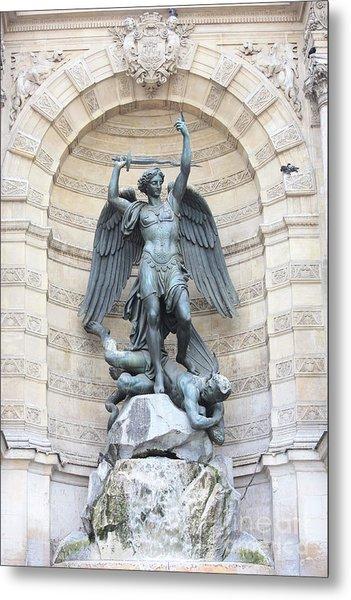 Saint Michael The Archangel In Paris Metal Print