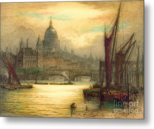 Saint Paul's Cathedral 1902 Metal Print by Padre Art