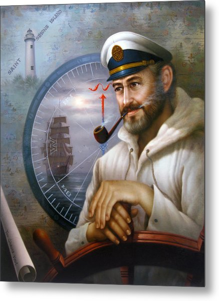 Saint Simons Island Sea Captain 1 Metal Print