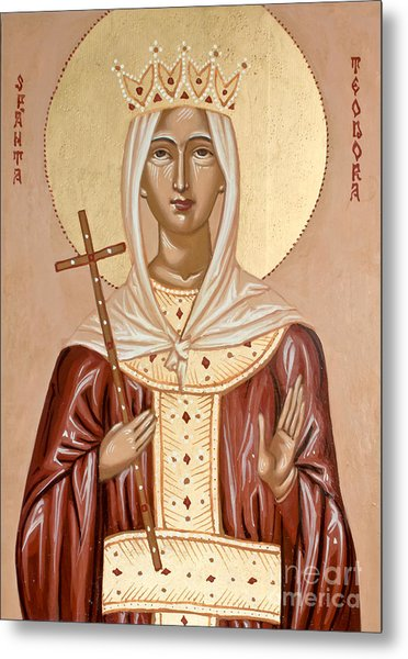 Saint Theodora Of Arta Metal Print