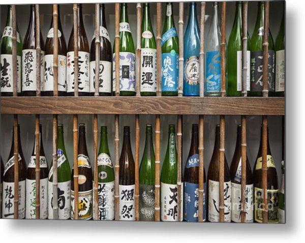 Sake Bottles Metal Print