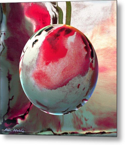 Sakura Sphere Metal Print