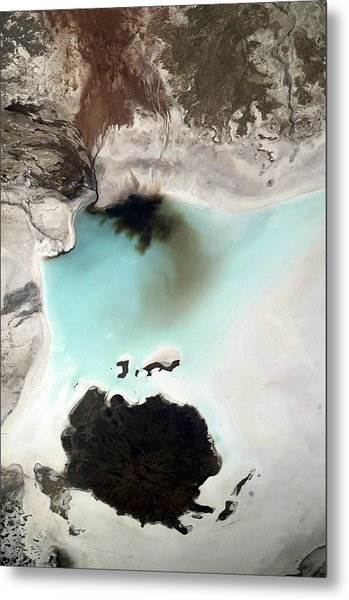 Salar De Coipasa, Bolivia, Iss Image. Metal Print by Science Photo Library