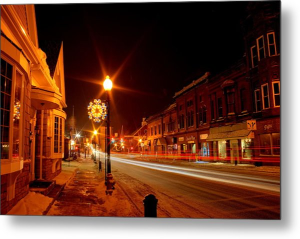 Salem Ohio Christmas Metal Print