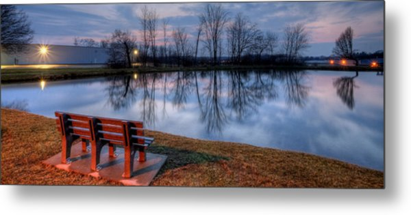 Salem Ohio Industrial Park Sunset Metal Print