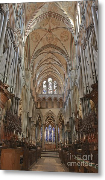 Salisbury Cathedral Quire And High Altar Metal Print