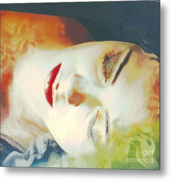 Sally Sleeps Metal Print