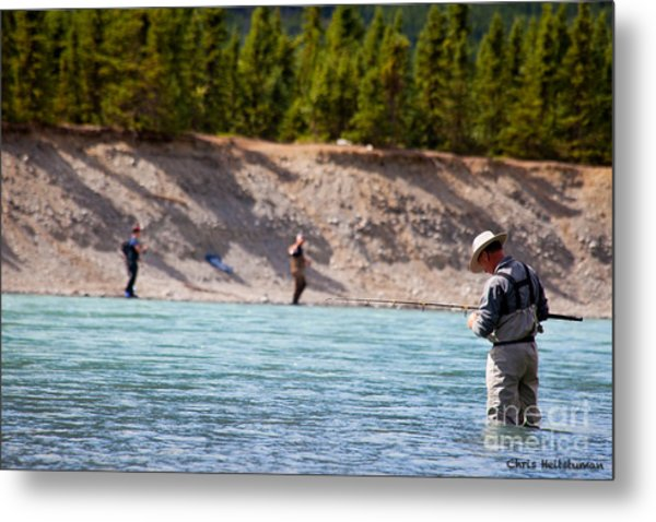 Salmon Fishing Metal Print by Chris Heitstuman