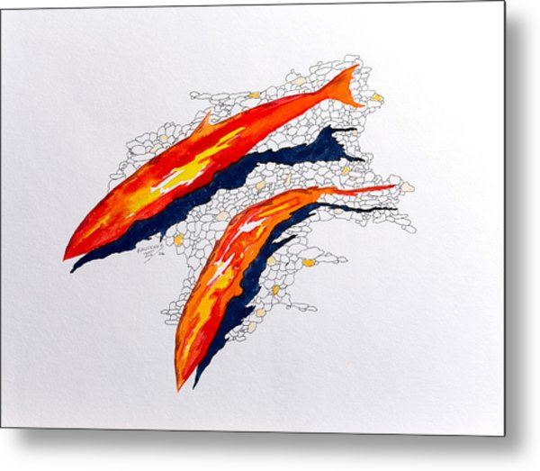 Salmon Run Metal Print