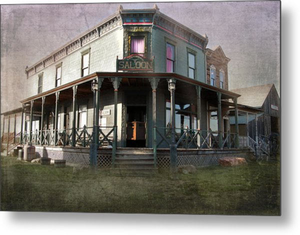Metal Print featuring the photograph Saloon by Judy Hall-Folde