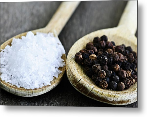 Salt And Pepper Metal Print