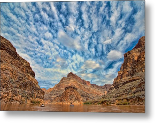 Salt Creek Clouds Metal Print