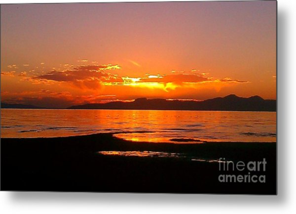 Salt Lakes A Fire Metal Print