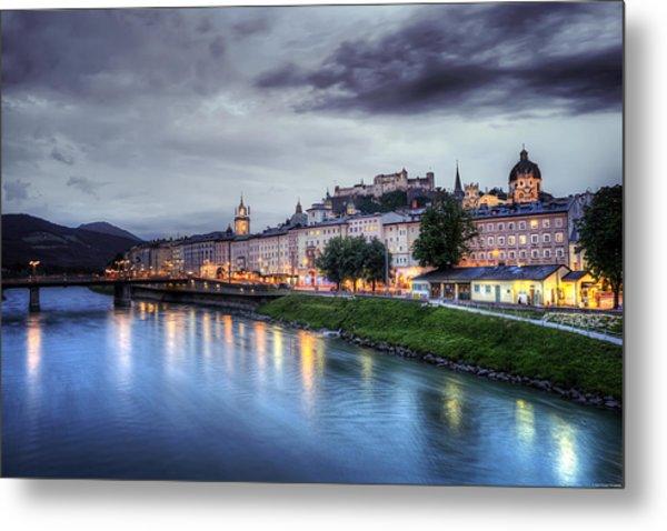 Salzburg Sunset Metal Print