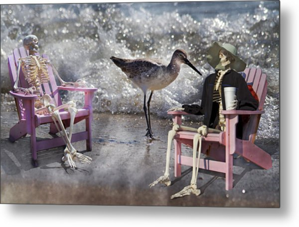 Sam And Friend In Wonderland Metal Print