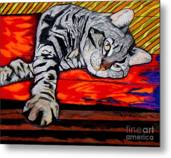 Sam The Cat Metal Print