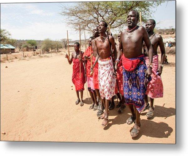 Samburu Tribal Dance Metal Print