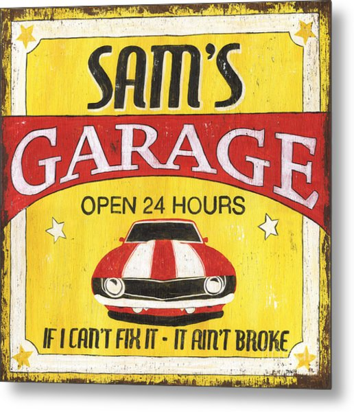 Sam's Garage Metal Print