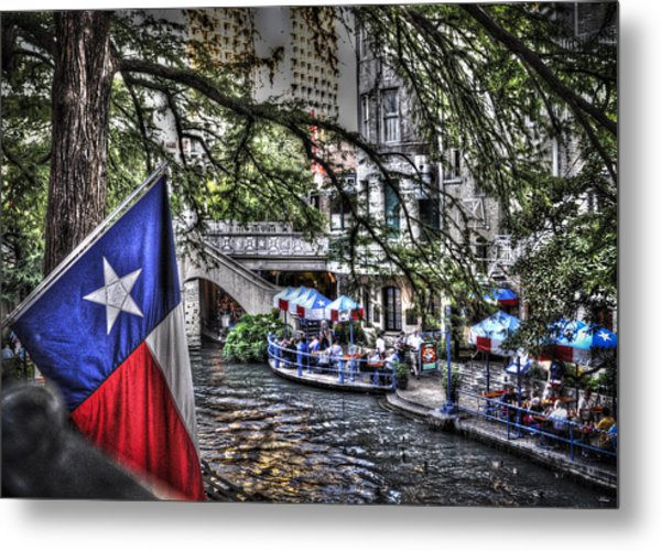 San Antonio Flag Metal Print