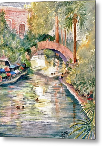 San Antonio Riverwalk Metal Print