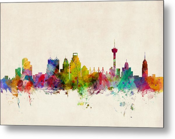 San Antonio Texas Skyline Metal Print