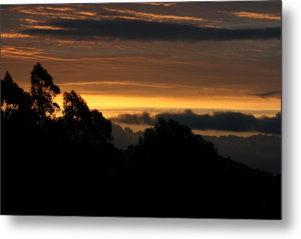 Metal Print featuring the photograph San Bruno Mountain Storm by Cynthia Marcopulos