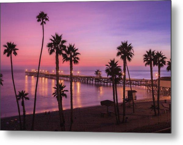 San Clemente Sunset Meditation Metal Print