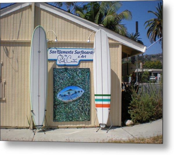 San Clemente Surfboards Metal Print