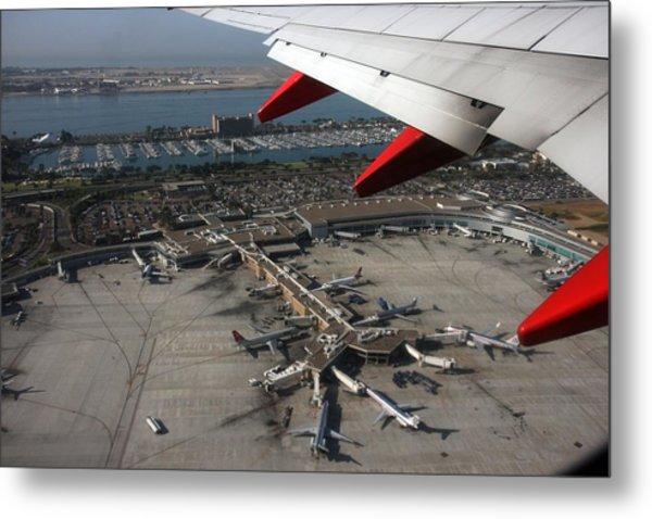San Diego Airport Plane Wheel Metal Print